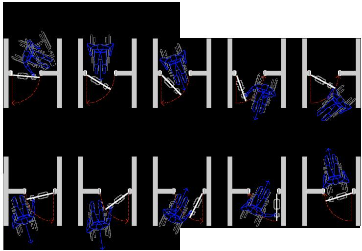 Porte e maniglie for Sedia a rotelle automatica